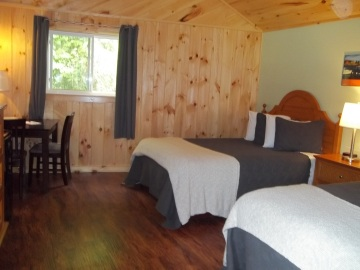 Picture of our pet friendly cottage rooms with linoleum flooring for ease in cleaning and durability.