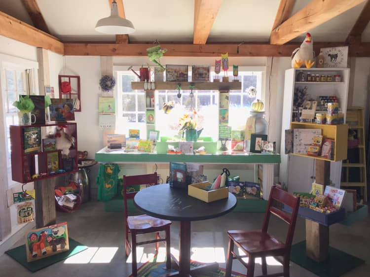 The Morris Farm Store sells locally produced food as well as children's items with the theme of growing together.