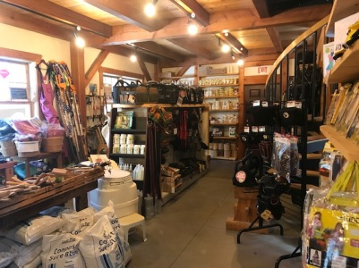 All types of woodworking tools are for sale in the shop at the Shelter Institute in Maine.