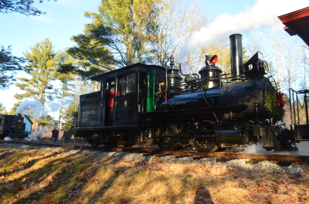 Wiscasset, Waterville, Farmington Railway. Rebuilding historic narrow gauge railway and steam engines. 8 miles from Wiscasset Woods Lodge