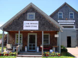 The Morris Farm and Morris Farm Store on Route 27 in Wiscasset