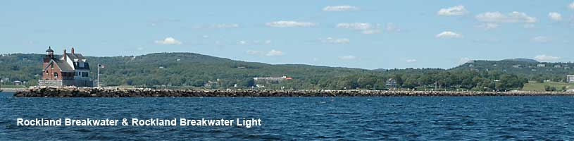 The Rockland Breakwater Light is a fun walk along granite squares out to the lighthouse.
