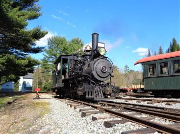 WWF Railway steam locomotive in Alna Maine.